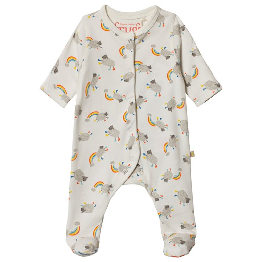Frugi My First Footed Baby Body Little Lambs Little Lambs_AW18