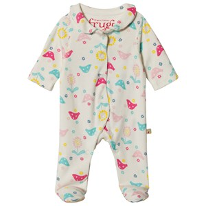 Image of Frugi Baby Pink Chickadee Footed Baby Body Newborn (3057107121)