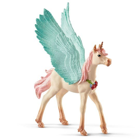 Schleich Decorated Unicorn Pegasus Foal Pink