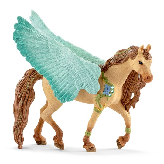 Schleich Decorated Pegasus Stallion BROWN