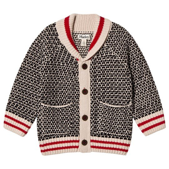 Hatley White and Black Shawl Collar Cardigan ECRU AND BLACK