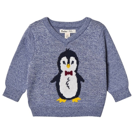 Hatley Blue Penguin Sweater Blue