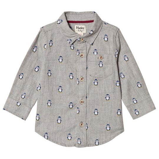 Hatley Grey Dapper Penguins Shirt Black