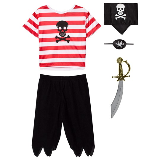 Travis Red, White and Black Pirate Costume Black, white, red