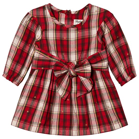 Hatley Red Check Party Dress Red