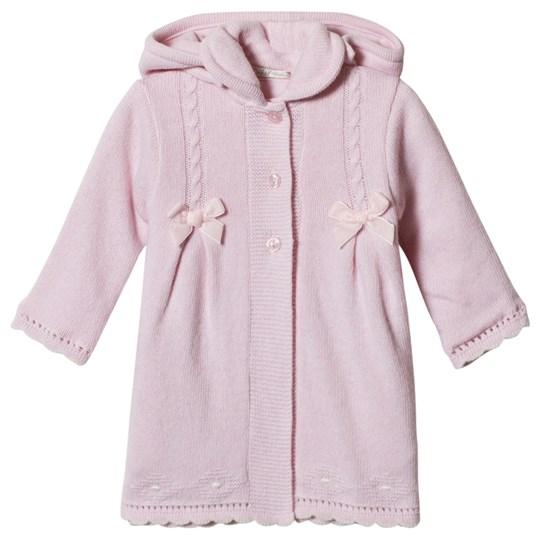 Dr Kid Pink Knitted Longline Hooded Cardigan 252