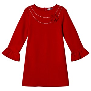 Image of Dr Kid Red Dress with Diamante & Flower Applique 3 years (1155550)