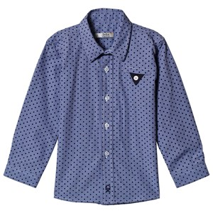 Image of Dr Kid Blue Polka Dot Shirt 10 år (1155634)