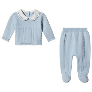 Image of Dr Kid Blue Knitted 2 Piece Set 1 month (3057464121)