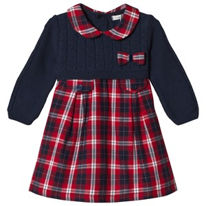 Image of Dr Kid Red Tartan & Knitted Dress 9 months (3057462689)