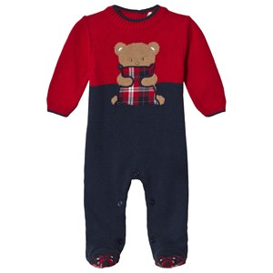 Image of Dr Kid Navy & Red Knitted Bear Baby Body 1 month (3057462773)