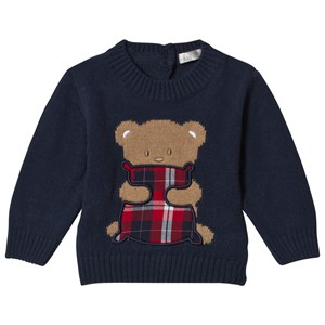 Image of Dr Kid Navy Knitted Bear Jumper 1 month (3057462793)