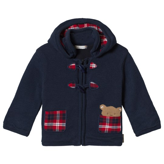 Dr Kid Knitted Hooded Duffel Cardigan Marinblå 295