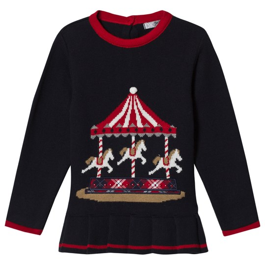 Dr Kid Navy Knitted Merry Go Round Top 280