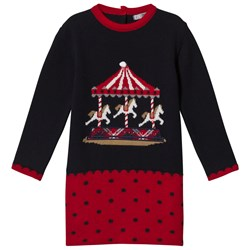 Dr Kid Navy Knitted Merry Go Round Dress