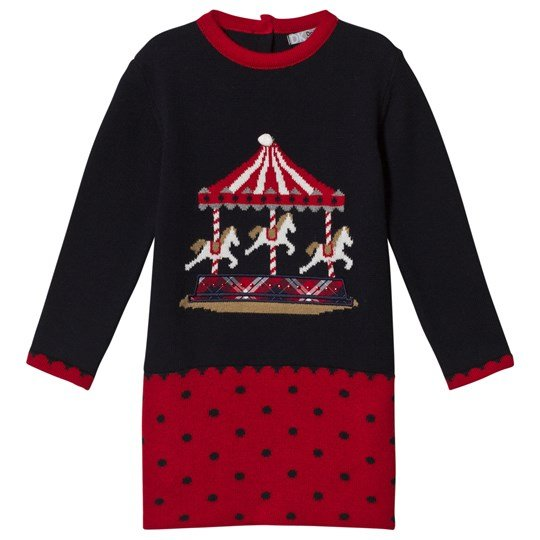 Dr Kid Navy Knitted Merry Go Round Dress 280