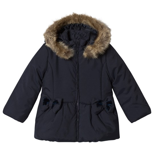 Dr Kid Navy Faux Fur Hooded Padded Coat 280