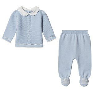 Image of Dr Kid Blue Knitted 2 Piece Set 12 months (3057464153)