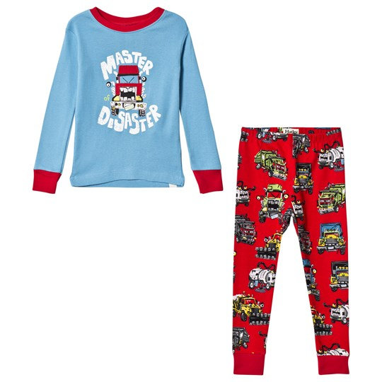 Hatley Blue Monster Truck Pyjama Set Blue