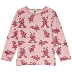 Småfolk Pink Rabbit Print Tee