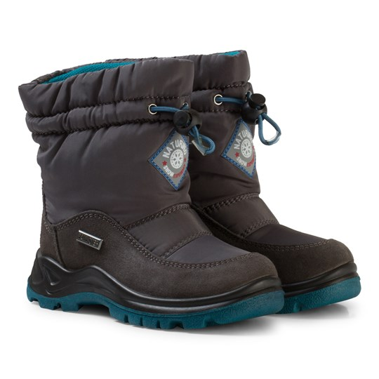Naturino Varna Waterproof Boots Dark Grey Black