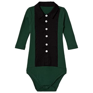 Image of The Tiny Universe The Tiny Baby Body Tuxedo Deep Green 3-6 months (68) (1207054)