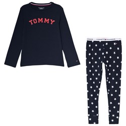 Tommy Hilfiger Navy Branded Star Print Pajama set