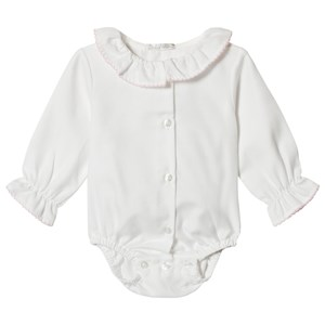 Image of Dr Kid White Baby Body with Ruffle Collar 1 month (3057462665)