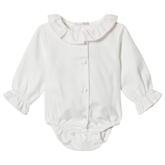 Dr Kid White Baby Body with Ruffle Collar 252