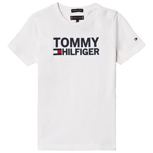 Image of Tommy Hilfiger White Branded Tee 3 years (3057462099)