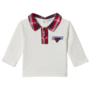 Image of Dr Kid White with Tartan Collar Top 1 month (1155191)