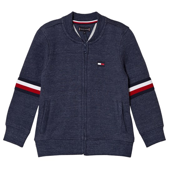 Tommy Hilfiger Navy Branded Full Zip Sweater 411