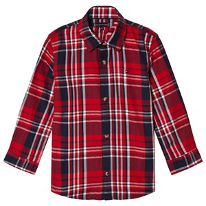 Image of Tommy Hilfiger Red Branded Herringbone Check Shirt 4 years (3057462203)
