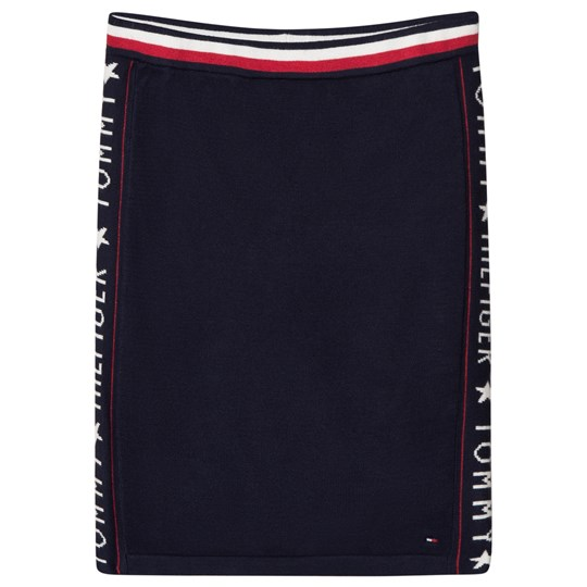 Tommy Hilfiger Navy Iconic Logo Taped Sides Skirt 002