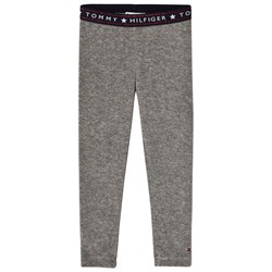 Tommy Hilfiger Grey Velour Branded Leggings