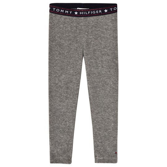 Tommy Hilfiger Grey Velour Branded Leggings 004