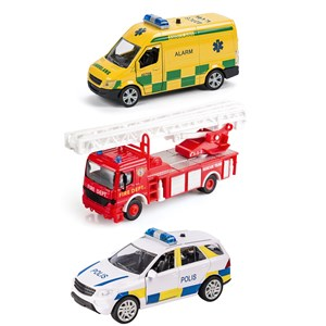 Image of Play Speed Rescue Set with 3 Vehicles 3 - 12 år (3057831601)
