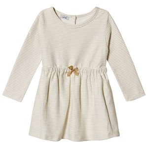 Image of Absorba Cream Lurex Stripe Dress with Glitter Bow 12 months (3057830229)