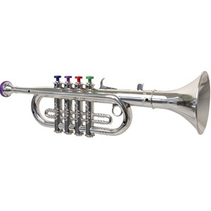 Image of Play Trumpet, Silver, 35 cm 3 - 6 years (3057832439)