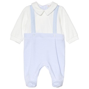 Image of Mintini Baby Blue and White Footed Baby Body 1 mdr (3057831627)