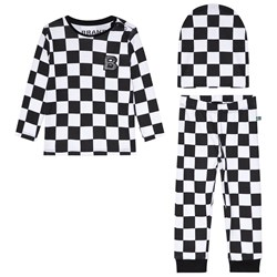 The BRAND 3-Piece Baby Set Black Squares
