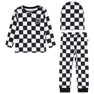 Image of The BRAND 3-Piece Baby Set Black Squares 56/62 cm (3057832029)