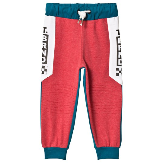 The BRAND Cross Sweats Red Melange / Petrol