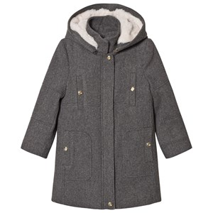 Image of Chloé Grey Broadcloths Hooded Coat 6 years (3065519455)