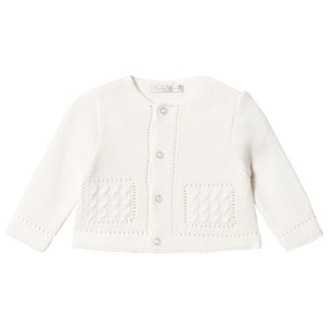 Image of Dr Kid White Knitted Cardigan 1 month (3057830775)