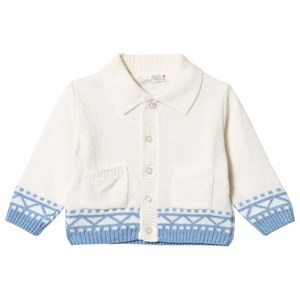 Image of Dr Kid White and Blue Knitted Cardigan 1 month (3057830789)