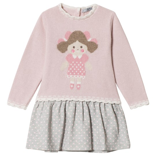 Dr Kid Pink Doll Face Sweater Dress 252