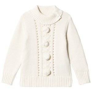 Image of Dr Kid White Pom-Pom Sweater 5 years (3057831037)