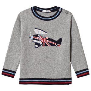 Image of Dr Kid Grey Airplane Sweater 12 months (1155372)
