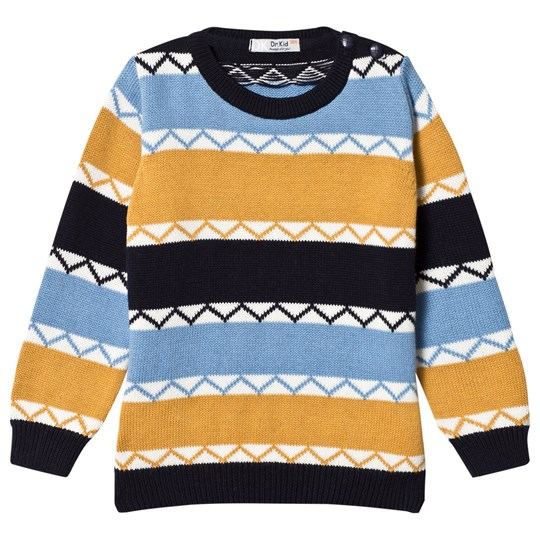 Dr Kid Navy, Blue and Mustard Knitted Sweater 108